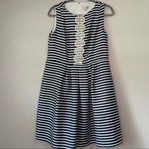 Signature by Robbie Bee Navy & White Dress